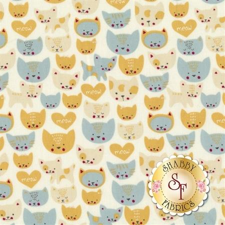 Woof Woof Meow 20565-11 by Moda Fabrics