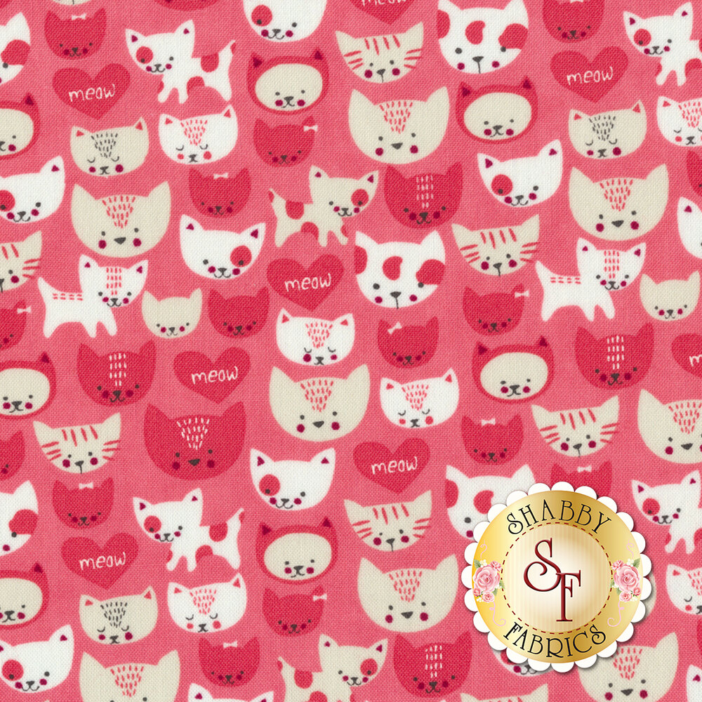 Woof Woof Meow 20565-18 by Moda Fabrics