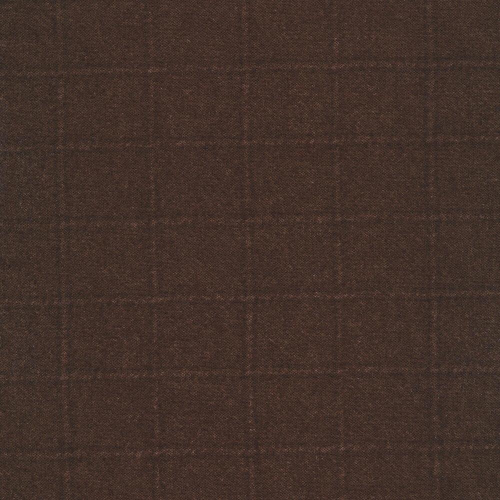 Tonal brown square print | Shabby Fabrics
