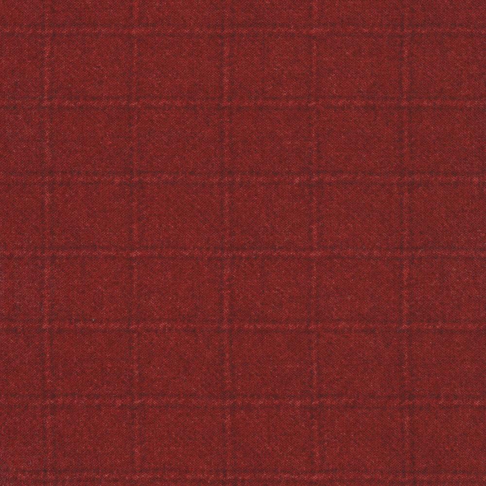Tonal red square print   Shabby Fabrics