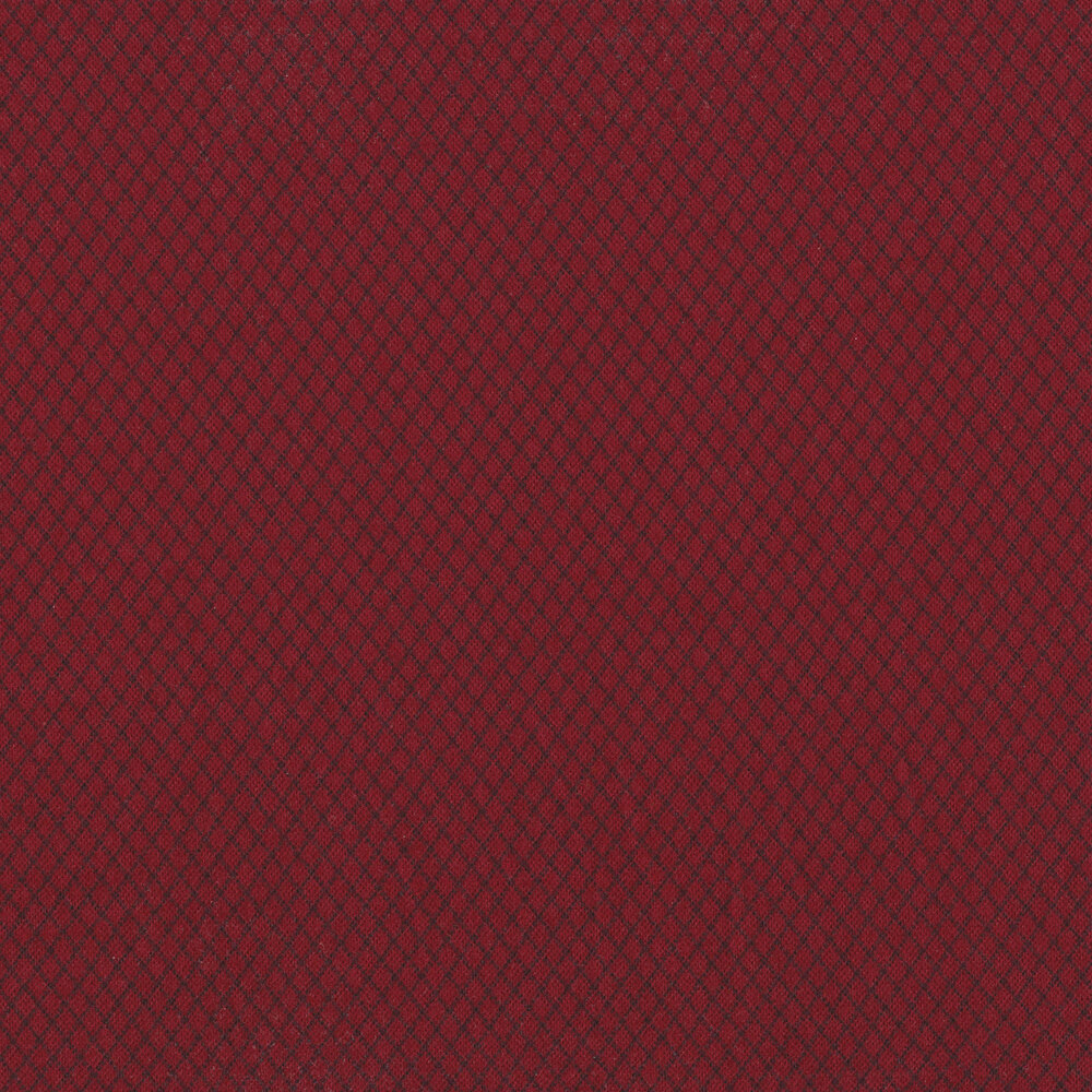 Tonal red diamond flannel | Shabby Fabrics