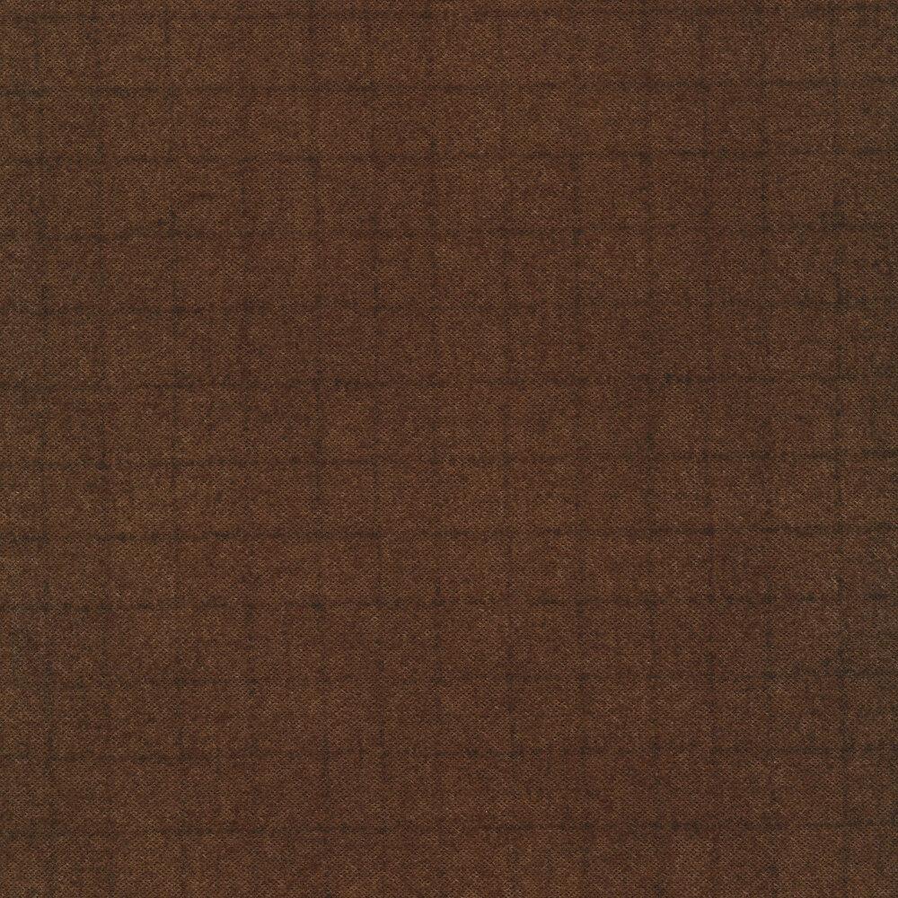 Tonal brown small square print | Shabby Fabrics
