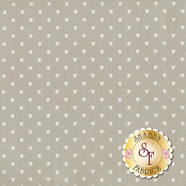 White polka dots on gray | Shabby Fabrics