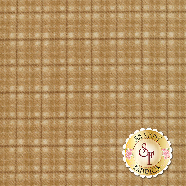 Tan tonal plaid on flannel | Shabby Fabrics