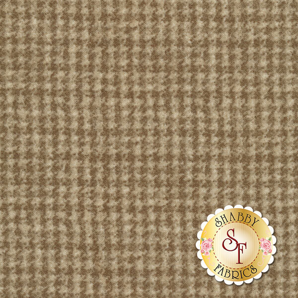 Light Brown tonal houndstooth flannel | Shabby Fabrics