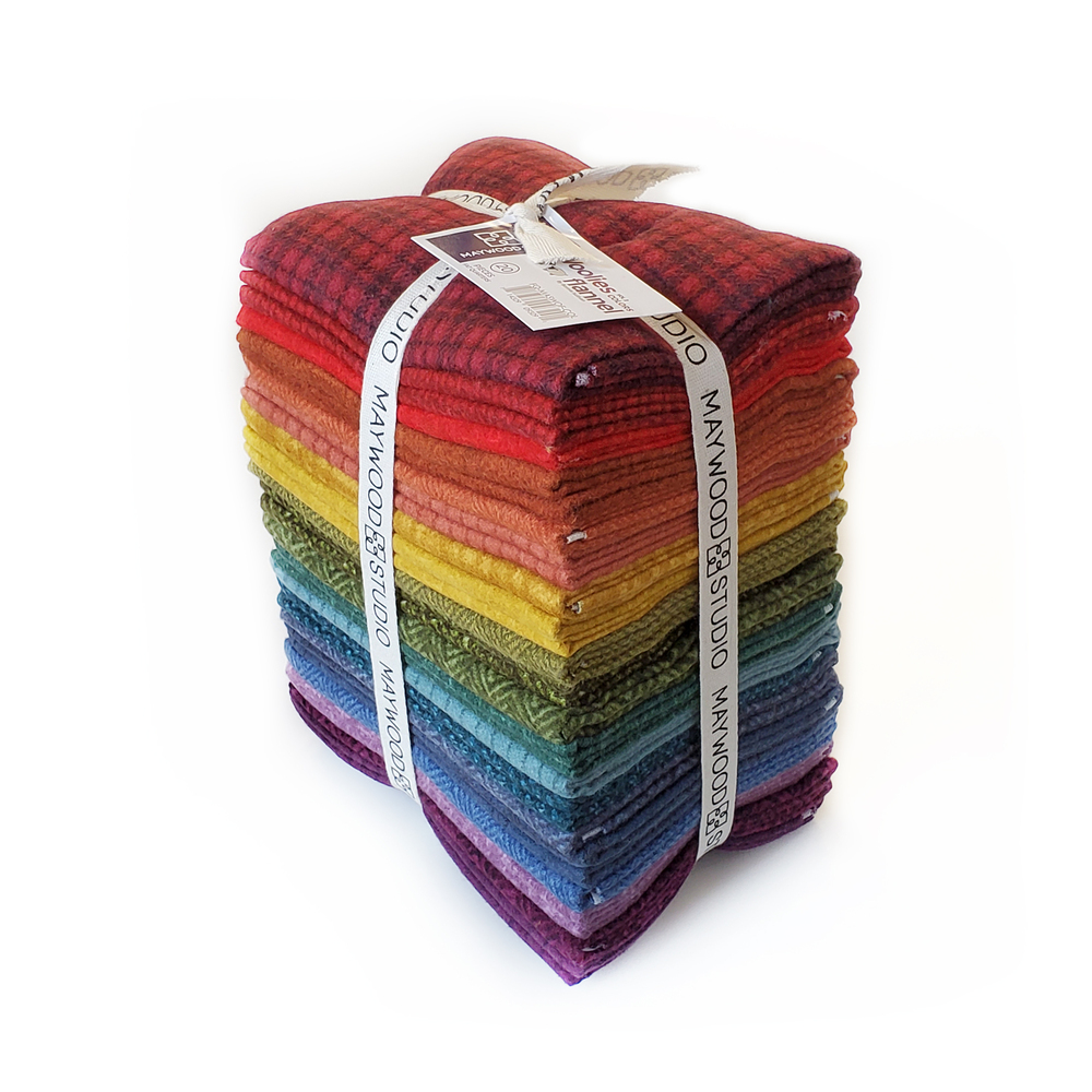 Woolies Flannel  20 FQ Set - Colors by Maywood Studio   Shabby Fabrics