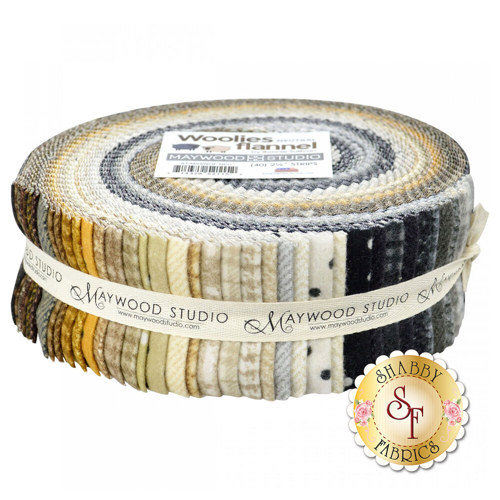 "Woolies Flannel 2 1/2"" Strips - Neutral by Bonnie Sullivan for Maywood Studio"