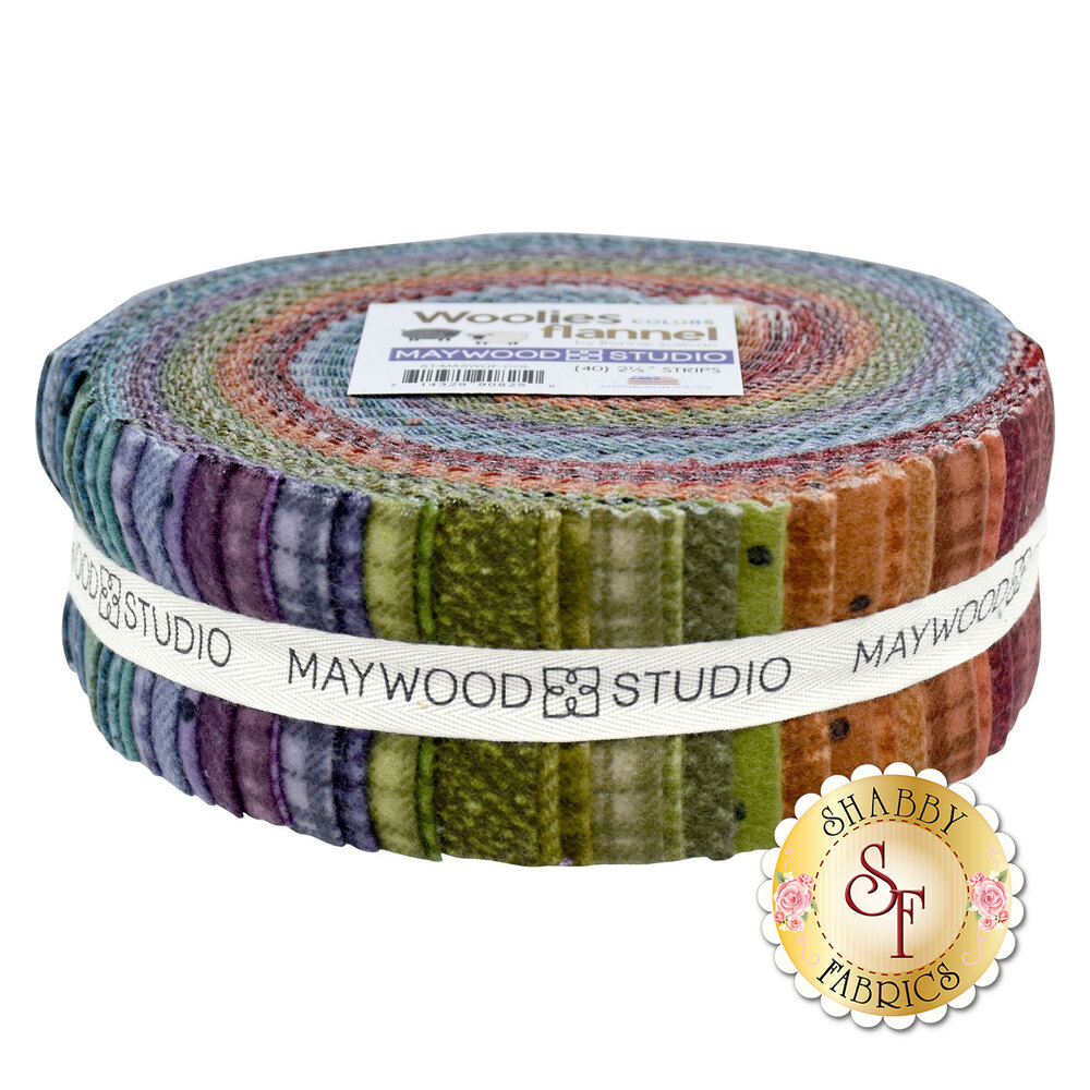 """Woolies Flannel 2 1/2"""" Strips - Colors by Bonnie Sullivan for Maywood Studio"""