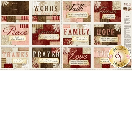 Words to Live By 82450-132 Multi Book Panel by Jennifer Pugh from Wilmington Prints