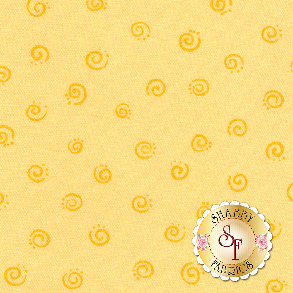 Susybee Buddies 20053-310 Squiggle Yellow by Hamil Textiles