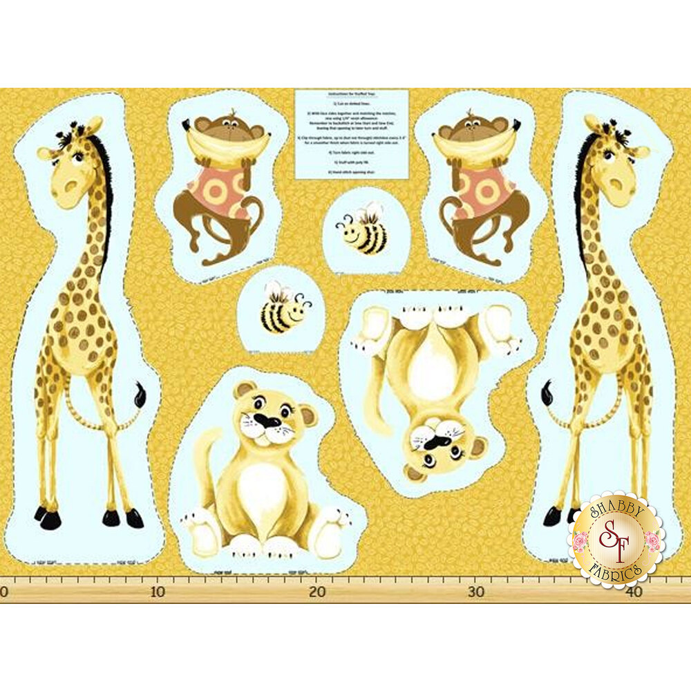 Susybee Buddies 20057-430 Jungle Toys Panel by Hamil Textiles