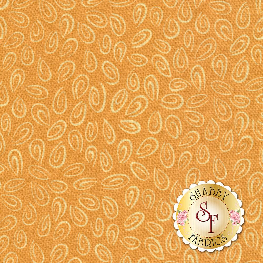 Susybee Buddies 20103-430 Monotone Swirls Tangerine by Hamil Textiles
