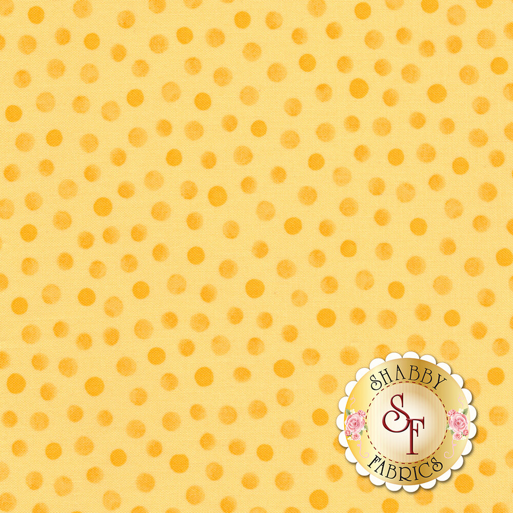 Susybee Buddies 20157-310 Tonal Dot Yellow by Hamil Textiles