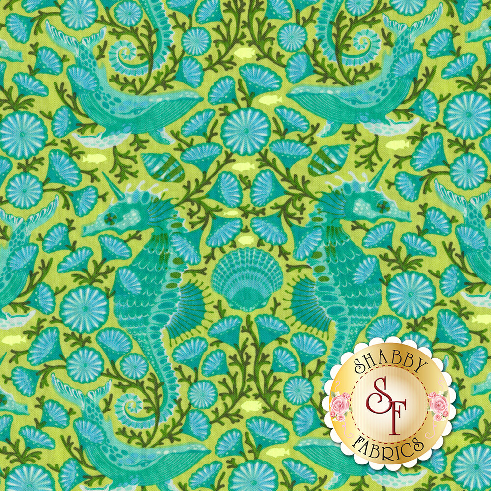Zuma  PWTP119.SEAGL Seaglass Sea Stallion by Tula Pink for Free Spirit Fabrics