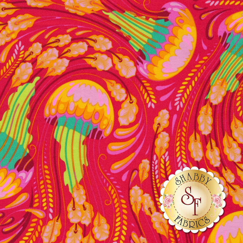 Zuma PWTP120.GLOWF Glowfish Sea Bloom by Tula Pink for Free Spirit Fabrics