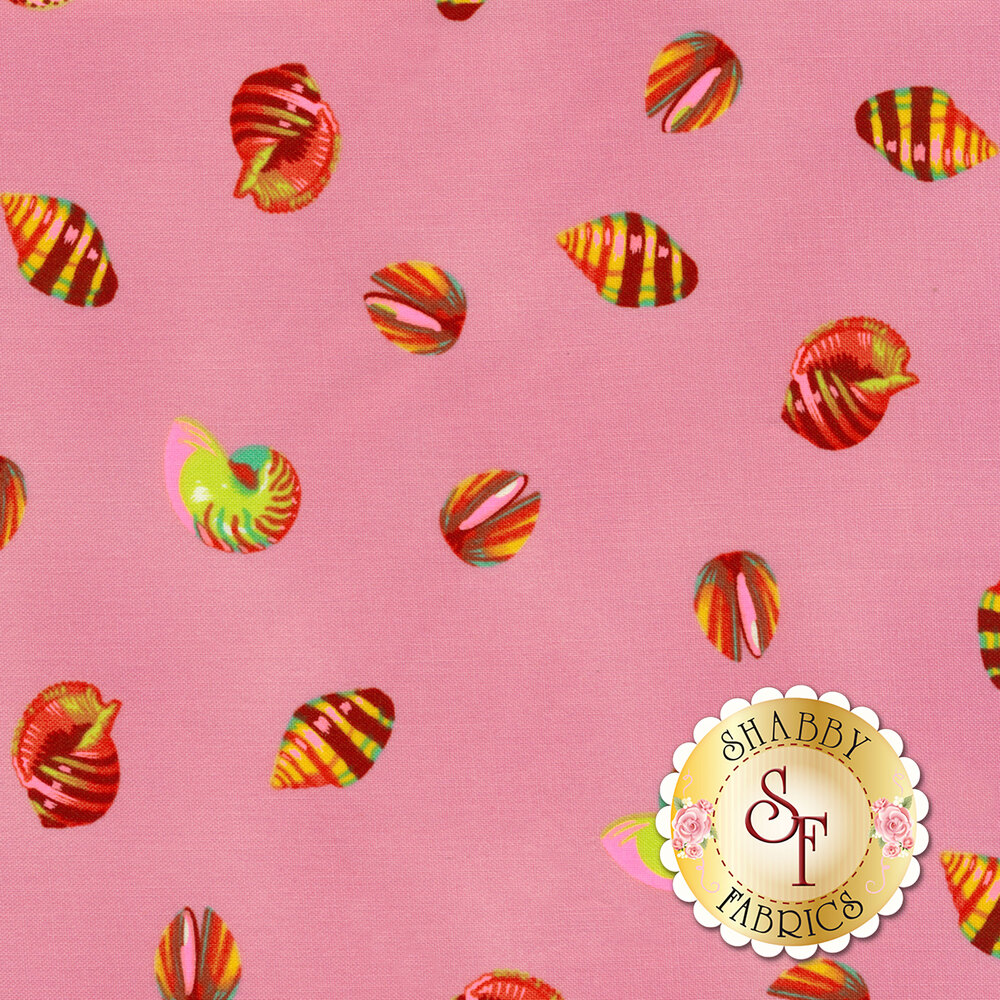 Zuma PWTP121.GLOWF Glowfish Sea Shells by Tula Pink for Free Spirit Fabrics