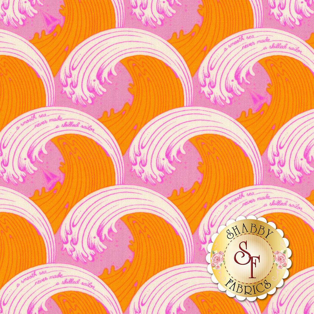 Zuma PWTP122.GLOWF Glowfish White Caps by Tula Pink for Free Spirit Fabrics