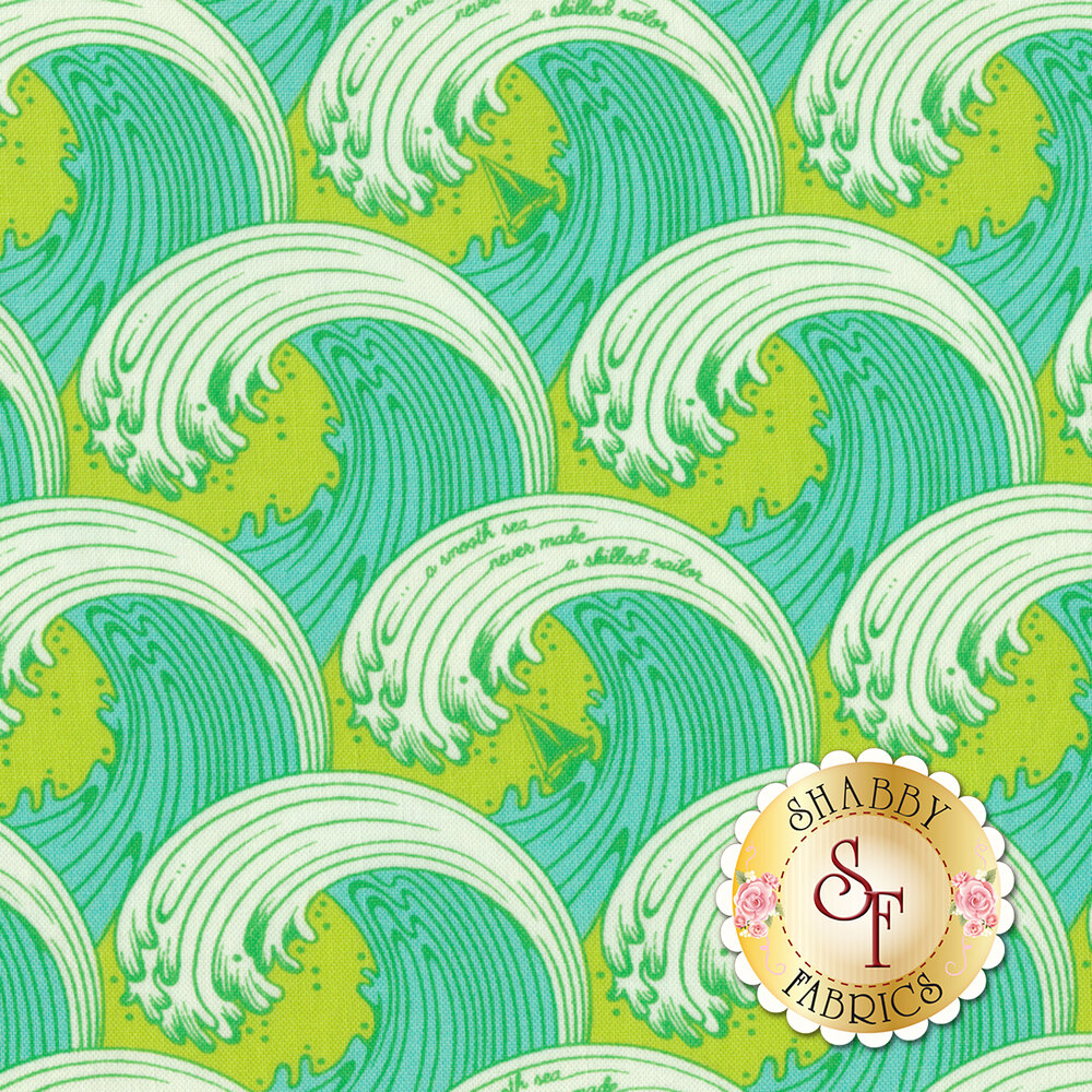 Zuma PWTP122.SEAGL Seaglass White Caps by Tula Pink for Free Spirit Fabrics