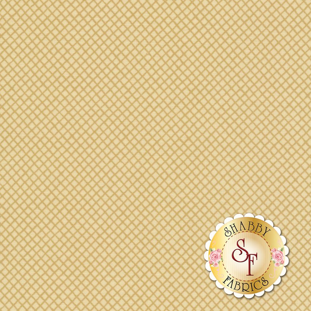 Tonal tan lattice on a cream background | Shabby Fabrics