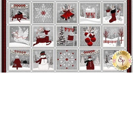 Holiday Homecoming 6758P-89 Panel by Jan Shade Beach for Henry Glass Fabrics