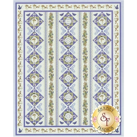 Botanical Blues Quilt Kit