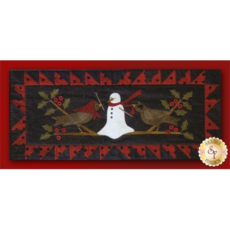 In The Holly We Can Build A Snowman Flannel Table Runner Kit