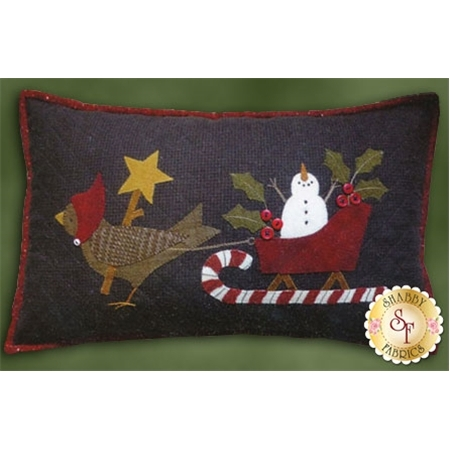 Sleigh Ride Flannel Pillow Kit