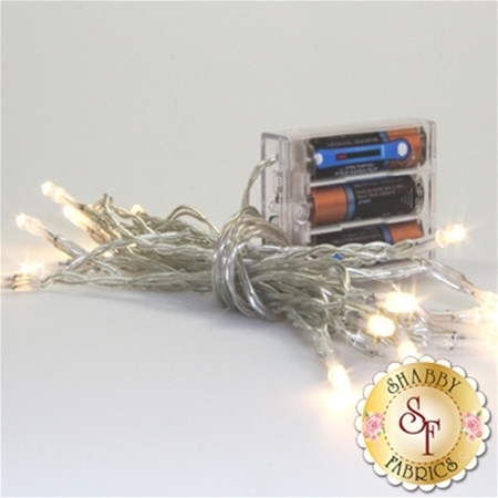 Battery Operated Twinkle Lights - Clear
