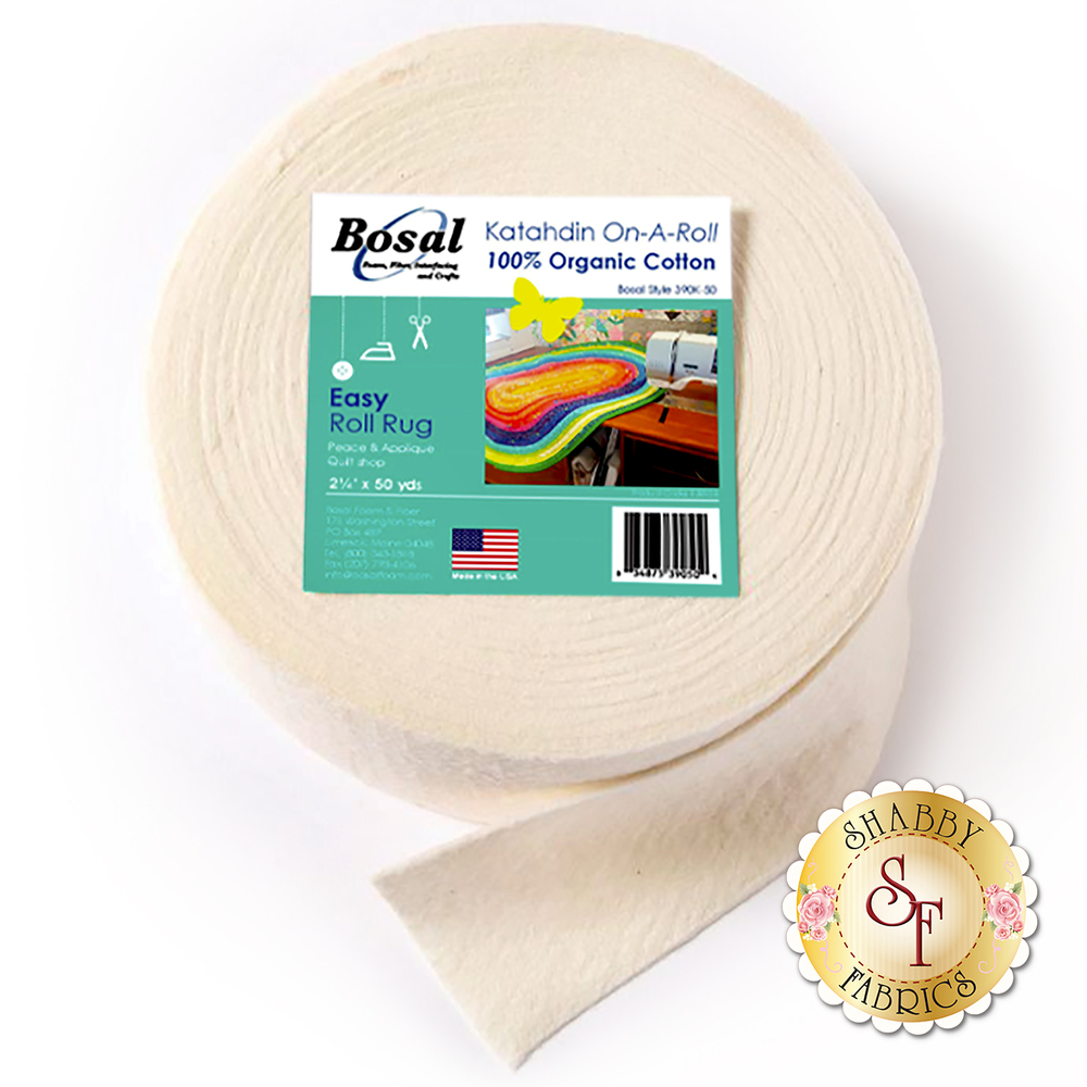Bosal Katahdin 100% Cotton Batting - 50yds - For Jelly Roll Rugs