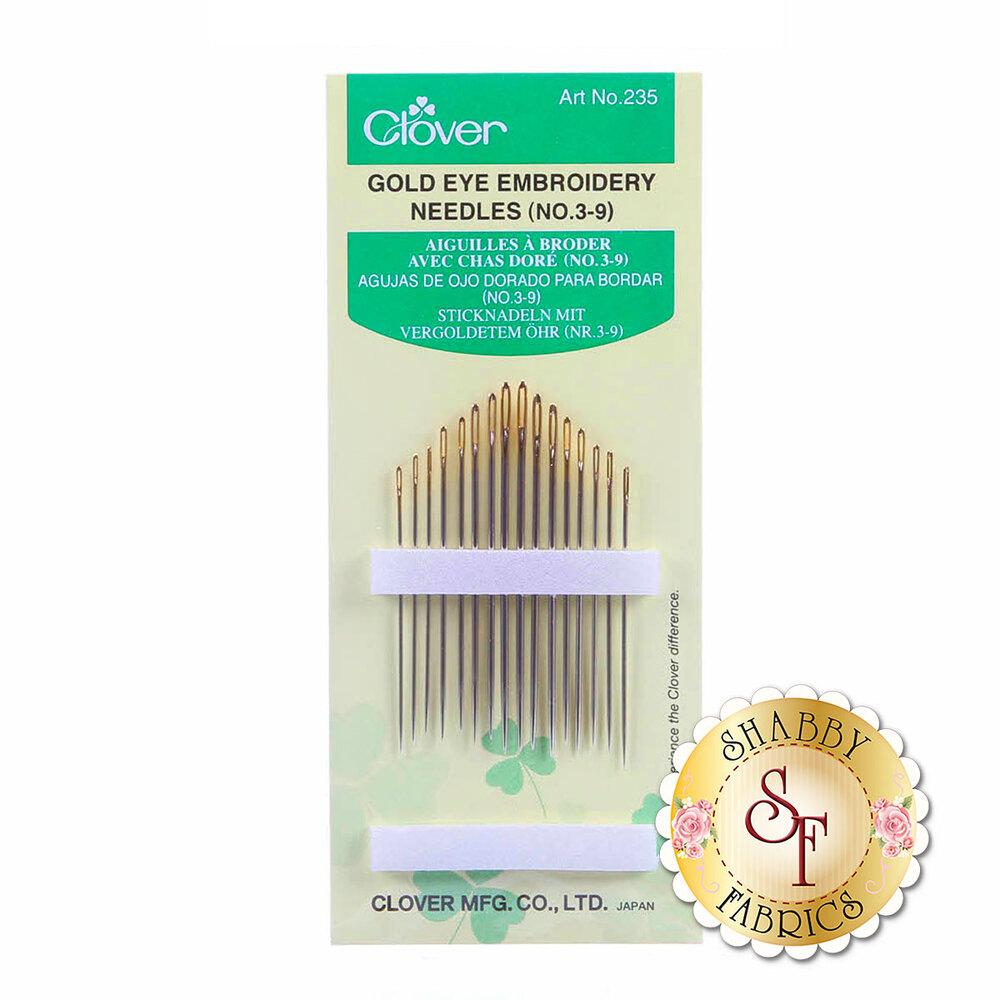 Clover Gold Eye Embroidery Needles (No. 3-9) | Shabby Fabrics