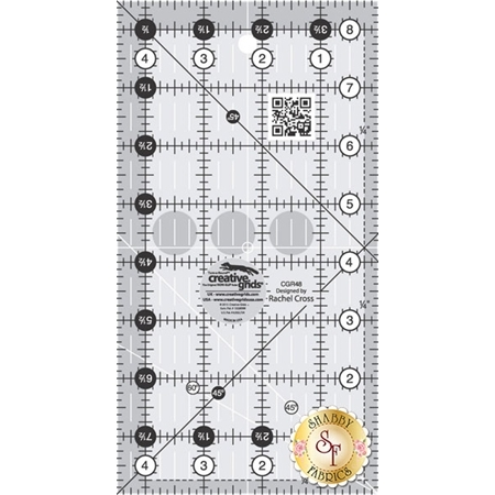 "Creative Grids - 4½"" x 8½"" Ruler #CGR48"