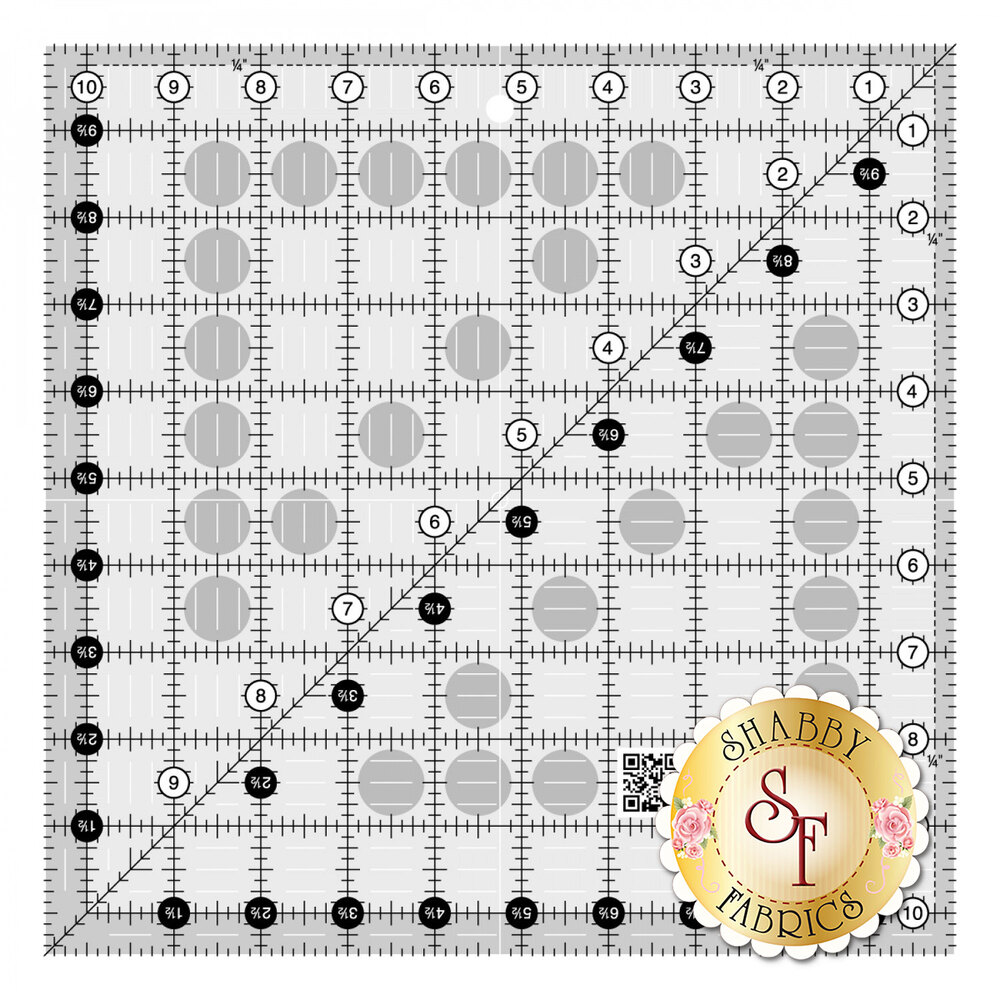 "Creative Grids Quilt Ruler - 10½"" Square 