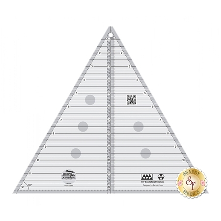 "Creative Grids 60 Degree 12½"" Triangle Ruler #CGRT12560"