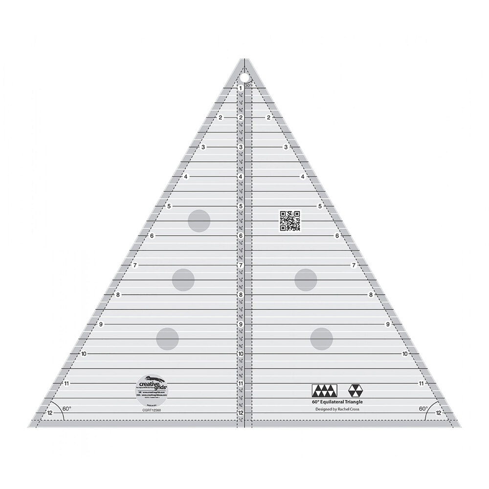 "Creative Grids 60° 12½"" Triangle Ruler #CGRT12560"