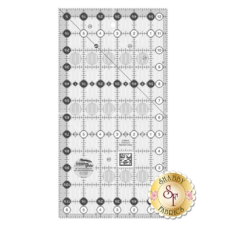 "Creative Grids Quilt Ruler - 6½"" x 12½"" #CGR612"
