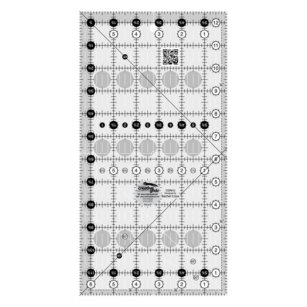 "Creative Grids - 6½"" x 12½"" Ruler #CGR612"