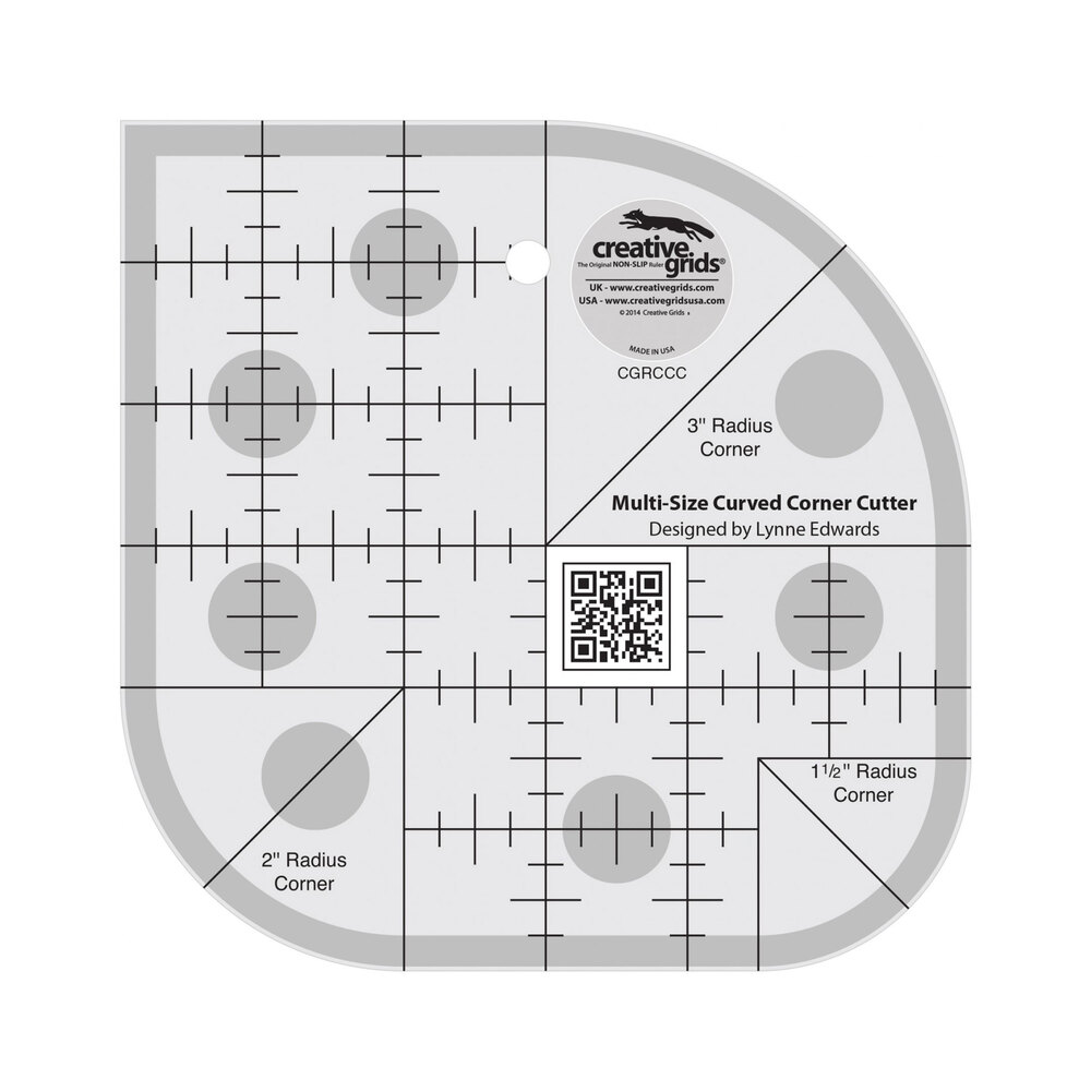 Curved Corner Cutter Quilt Ruler #CGRCCC from Creative Grids