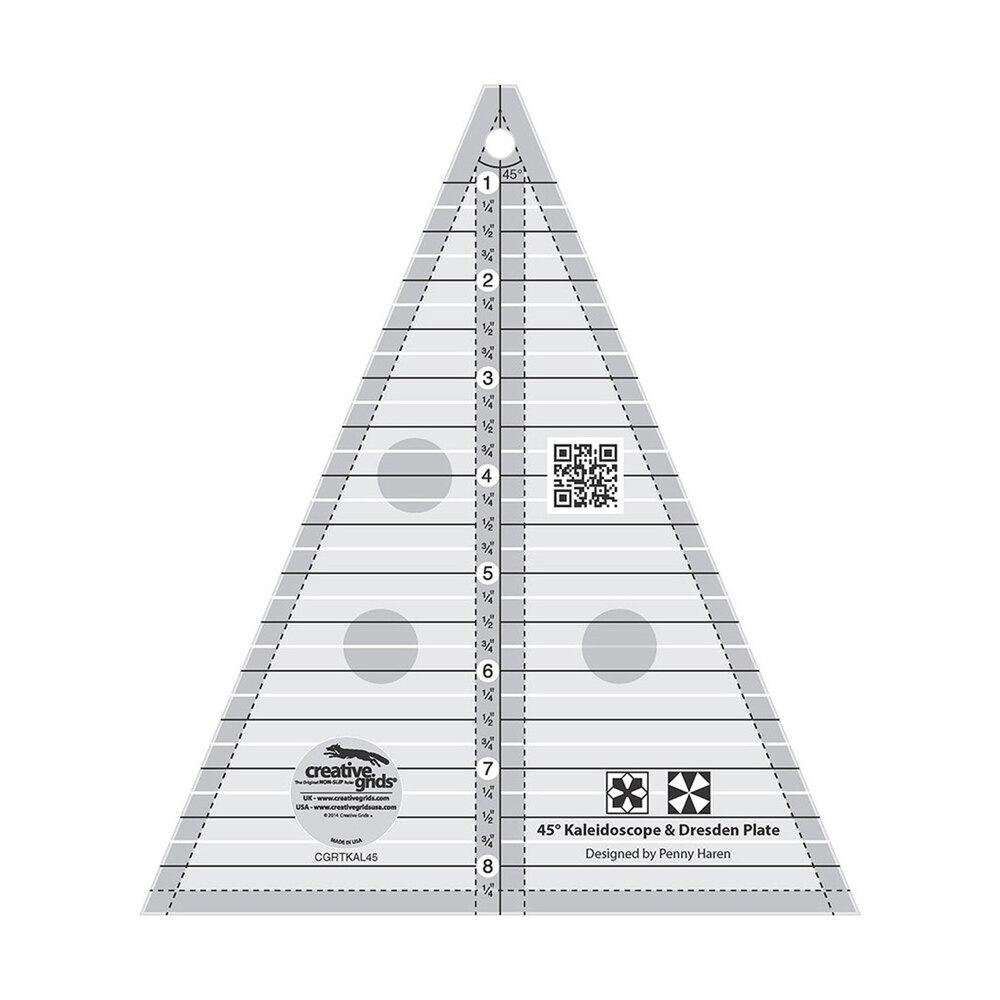 Creative Grids 45° Kaleidoscope Quilt Ruler #CGRTKAL45