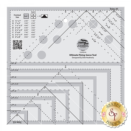 Creative Grids Ultimate Flying Geese Template and Quilt Ruler #CGRDH4