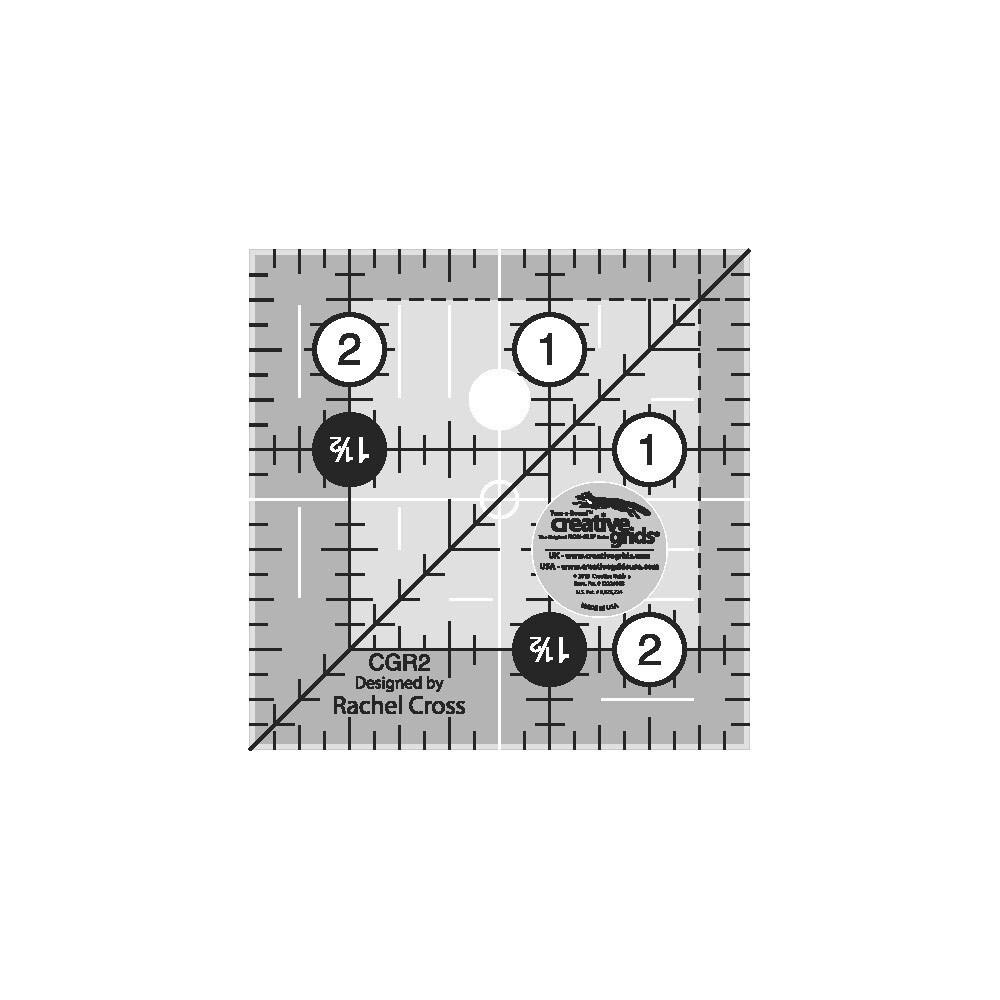 "Creative Grids 2-1/2"" Square Quilt Ruler | Shabby Fabrics"