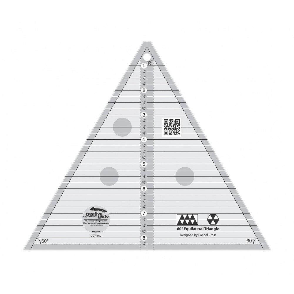 "Creative Grids 60° 8½"" Triangle Ruler #CGRT60"