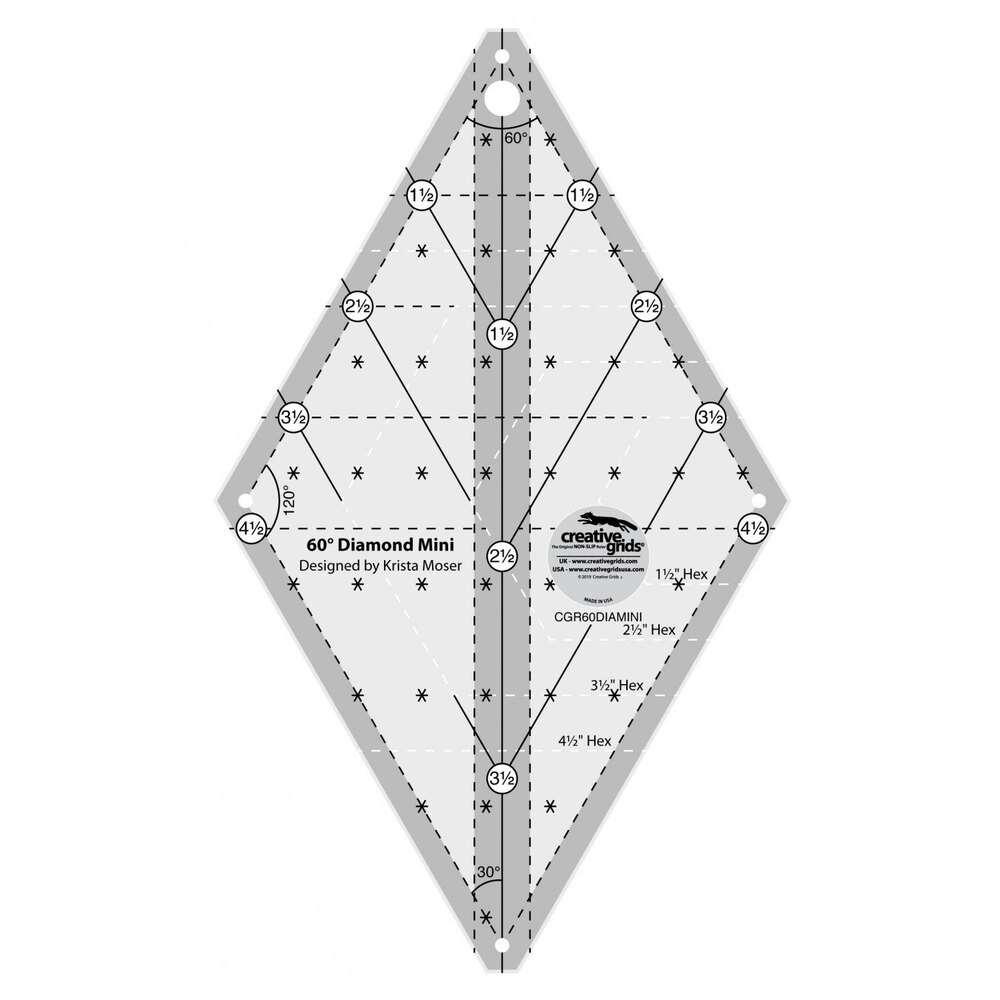 Creative Grids 60° Mini Diamond Ruler #CGR60DIAMINI