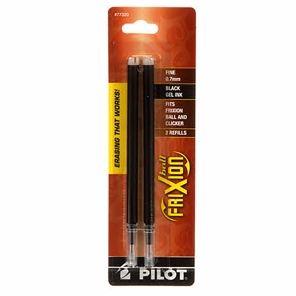 Frixion Clicker Pen Black Fine Point 0.7mm Refill - 2 Pack