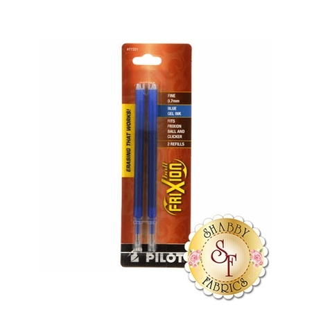 Frixion Clicker Pen Blue Fine Point 0.7mm Refill - 2 Pack
