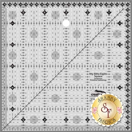 """Creative Grids Itty-Bitty Eights Square Ruler - 6"""" x 6"""" #CGRPRG2"""