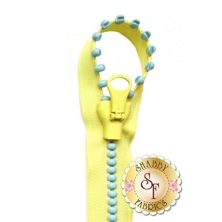 Jelly Beads Zipper 57671-50 Yellow/Aqua - 31""