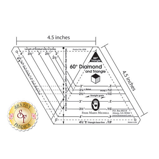 One-derful One-Patch Templates - 60 Degree Diamond & Triangle #MM8228