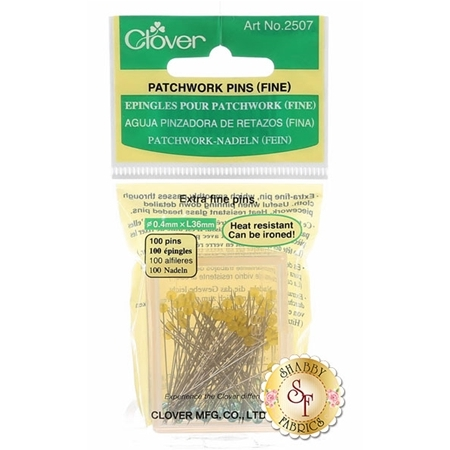 Clover Patchwork Pins (Extra Fine) - 100ct Size 30 - 1½""