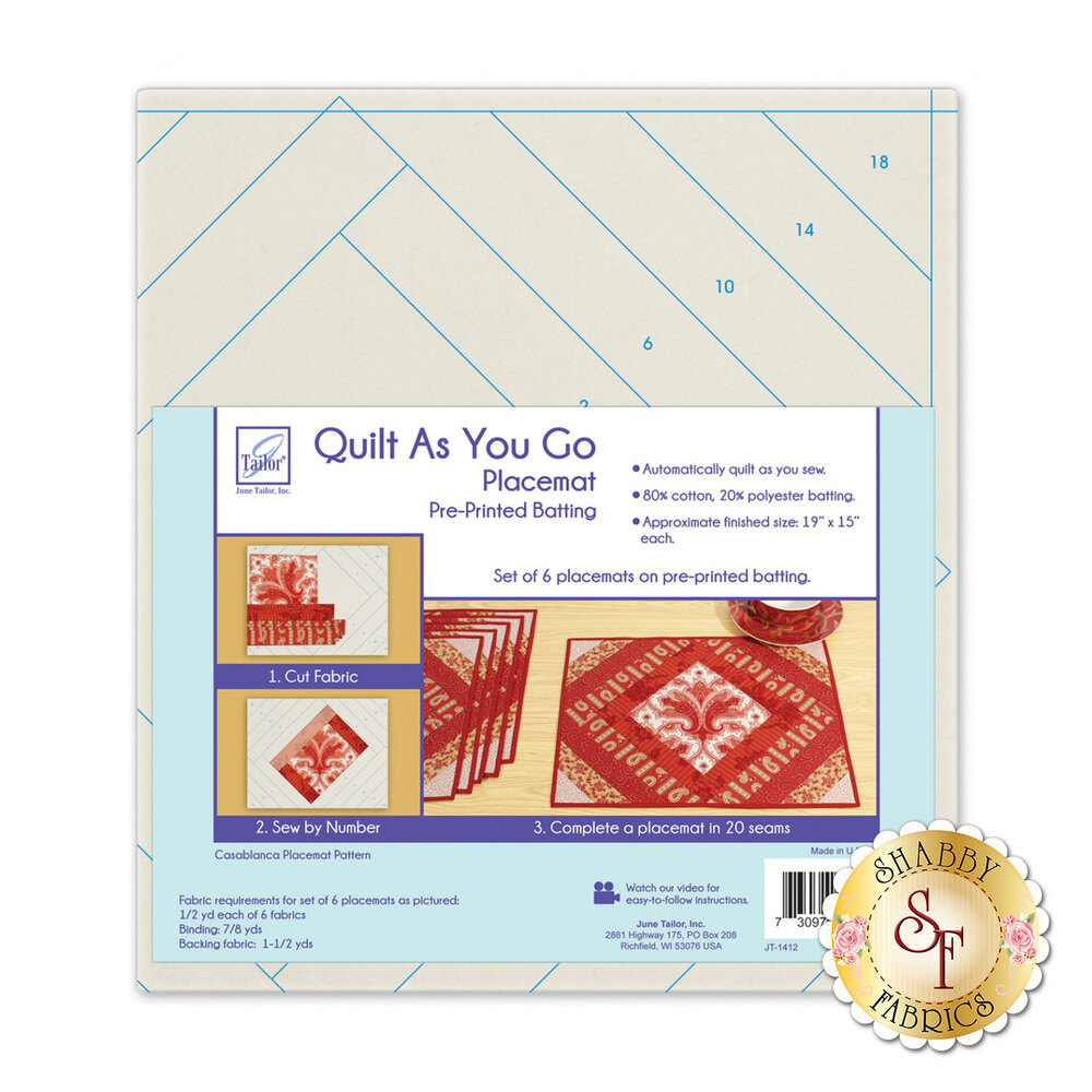 Quilt As You Go Casablanca Placemat From June Tailor