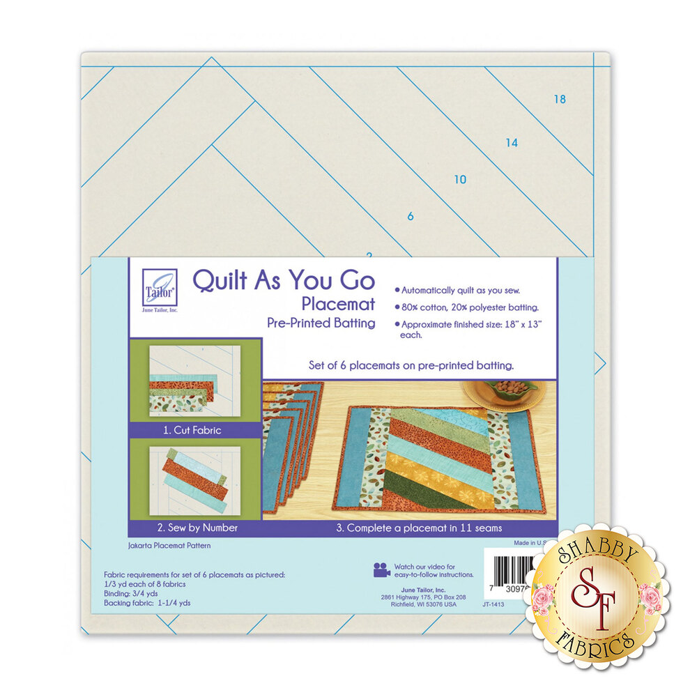 Cat Fish Pet Placemat Quilt As You Go Printed Interfacing Pattern Kit